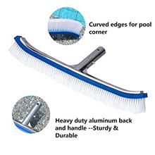 "(FROM USA) Lalapool Swimming Pool Wall & Tile Brush,18 "" Polished Alumin"