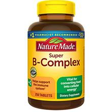 (FROM USA) Nature Made Super B-Complex Tablets with Vitamin C, 250 Count for M