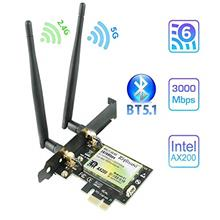 [USAmall] AX200 WiFi 6 Bluetooth5.1 PCIe WiFi Card | Up to 2402Mbps | Intel Wi