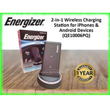 Energizer 2-in-1 Wireless Charging Station for iPhones  & Android Devic