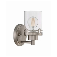 (FROM USA) Seenming Lighting 1 Light Clear Glass Shade Wall Sconce Lighting wi