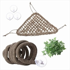 (FROM USA) AUBBC Bearded Dragon Hammock, 100% Natural Seagrass Triangular Liza