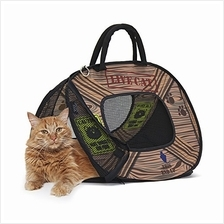 (FROM USA) SportPet Designs Cat Carrier with Zipper Lock- Foldable Travel Cat