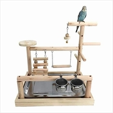 (FROM USA) WYunPets Parrots Playstand Bird Playground Wood Perch Gym Stand Pla
