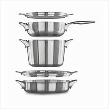 Calphalon Premier Space Saving Stainless Steel Supper Club Set