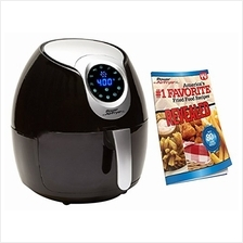 Power Air Fryer XL 3.4 QT Black - Turbo Cyclonic Airfryer With Rapid Air Techn