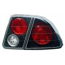 IPCW CWT-735B2 Honda Civic 4-Door Bermuda Black Tail Lamp with Crystal Eyes -
