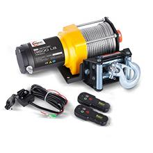 RUGCEL Winch 12V Electric ATV Winch 2 Remote Wireles Control Steel Cable Boat