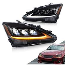 VLAND LED Headlights for Lexus IS250 IS350 IS F 2006-2012 with Sequential (Als