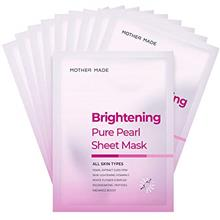 MOTHER MADE Pure Pearl Brightening Korean Face Sheet Masks Pack of 10 with Pea