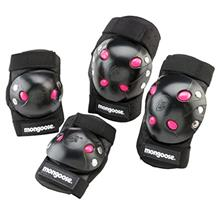 Mongoose Youth BMX Bike Gel Knee and Elbow Pad Set, Multi-Sport Protective Gea