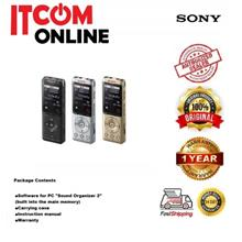 SONY 4GB DIGITAL VOICE RECORDER WITH TF SLOT (ICD-UX570F) BLK/GOLD/SIL