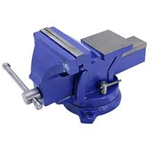 "(FROM USA) HFS (R) 5 "" Heavyduty Bench Vise Anvil Forged.360 Swivel Locki"