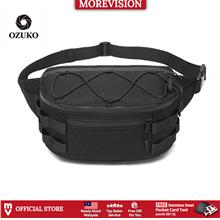 OZUKO Waist Bag Chest Sling Shoulder Anti-scratch Canvas Waterproof