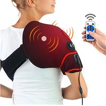- Original CHEROO Shoulder Heating Pad with Vibration Massager, Auto Shut Off