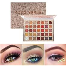 COCO VENUS Eyeshadow Palette 35 Pop Colors High Pigment Waterproof Eye Makeup