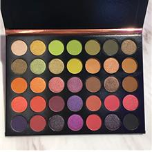New 35 Colors POPPING Long Lasting Green Yellow Eyeshadow Palette Collection (