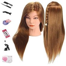 Mannequin Head, Beauty Star 20 Inch Long Gold Hair Cosmetology Mannequin Manik