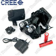 HBL-07R2 CREE XP-E R2x2 2-in-1 LED Headlamp Bicycle Lamp