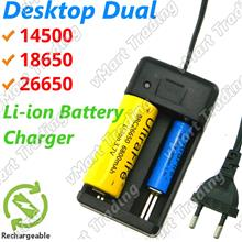 LI-DC02 Desktop Dual 14500 18650 26650 Li-ion Battery Charger