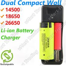 Dual 14500 18650 26650 Li-ion AA AAA Ni-Cd Ni-Mh Battery Charger