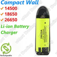 Compact 14500 18650 26650 Li-ion Battery Charger