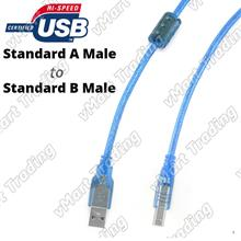 USB 2.0 Standard-A Male to Standard-B Male Printer Scanner Cable