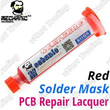 HKMC LY-UVH900 UV Curable Solder Mask [10cc Syringe Red]