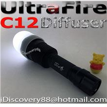 Diffuser for UltraFire C12 LED Torch FlashLight Torchlight C8