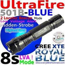 UltraFire 501B-XTE Cree Blue 8s+LVA Fishing Coral LED Torch FlashLight