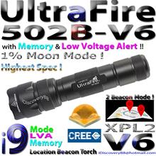 UltraFire 502B-V6 i9 Cree XP-L2 LED Torch Beacon FlashLight XPL XPL2