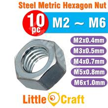 10pcs Hexagon Nut M3 M4 M5 M6 Metric Size