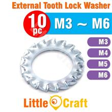 10pcs External Tooth Lock Washer M3 M4 M5 M6