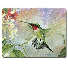...Fast Delivery Ruby Hummingbird Natures Gift of Feathers Tempered Glass Larg