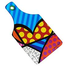 ...Fast Delivery Romero Britto Heart Cutting Board