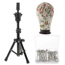...Fast Delivery Mannequin Canvas Head with Adjustable MINI Tripod Stand for W