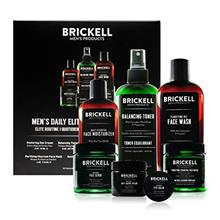 ...Fast Delivery Brickell Men's Daily Elite Face Care Routine I, Toner, Gel Fa