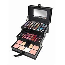 ...Fast Delivery Cameo Matte All-in-one Makeup Kit, Crocodile Leather, Black