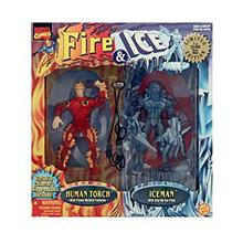 "...Fast Delivery Marvel Fire  & Ice  ""Human Torch  & Iceman """