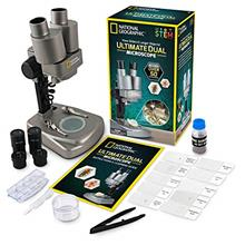- Original NATIONAL GEOGRAPHIC Dual LED Student Microscope – 50+ pc Science