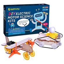 - Original Giggleway Electric Motor Science Kits for Kids, DIY Wooden Kids Sci
