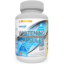 (FROM USA) Whitening Pills for Skin - 60 caps - Herbal Supplement -3 Times Bet