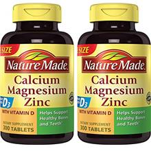 (FROM USA) Nature Made Calcium, Magnesium  & Zinc w. Vitamin D Tablets Value S