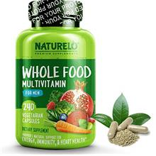 (FROM USA) NATURELO Whole Food Multivitamin for Men - Natural Vitamins, Minera