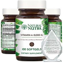 (FROM USA) Natural Nutra Vitamin A 10,000 IU, Retinol Palmitate Dietary Supple