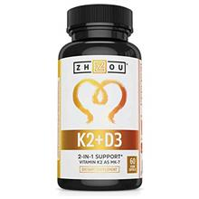 (FROM USA) Vitamin K2 (MK7) with D3 Supplement - Vitamin D  & K Complex - Bone