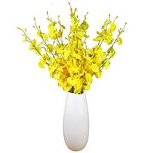 (FROM USA) Artificial Flowers Orchids Silk Fake Flowers in Bulk, 10 Pcs (Each