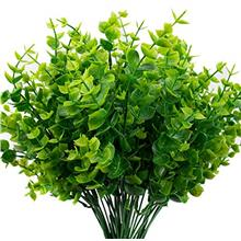 (FROM USA) THE BLOOM TIMES Artificial Boxwood (Pack of 6), Artificial Greenery
