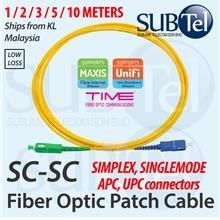 SC/APC-SC/UPC Single Mode Simplex Fiber Optic Patch Cord Cable APC UPC