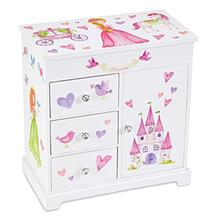 (FROM USA) Jewelkeeper Unicorn Musical Jewelry Box with 3 Pullout Drawers, Fai